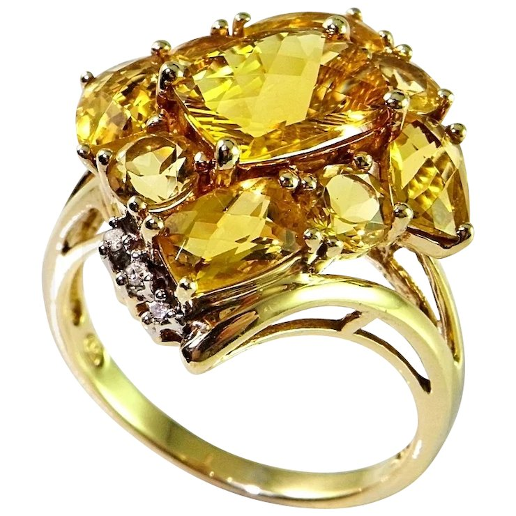 solid custom rings shop jewelry pinky emerald yellow made ring diamond gold mens