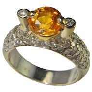 Golden Sapphire Diamond Engagement Ring Wedding Ring Anniversary Ring Vintage Color Engagement Estate Fine Natural Canary Yellow Fancy Sapphire 18K Hold Handmade Custom Designer Retro One of a Kind Unique Engagement Luxury High End