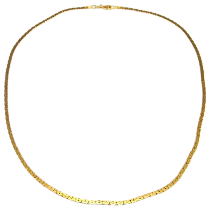 cb33d0e0b286d C Link Minimalist 14K 14Kt 585 Gold Chain Necklace Necklet Italian Yellow  Gold Chain Necklace Dainty Necklace Chain Jewelry Delicate Vintage Sexy  Flat ...