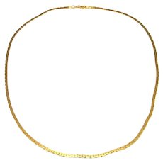 C Link Minimalist 14K 14Kt 585 Gold Chain Necklace Necklet Italian Yellow Gold Chain Necklace Dainty Necklace Chain Jewelry Delicate Vintage Sexy Flat Minimalist Wedding Bridal
