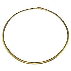 Italian Chain 14K Yellow Gold 14Kt Snake Chain Snake Chain Choker Flat Gold Chain Vintage Italy Gold Jewelry Gold Collar Necklace Fine Minimalist Wedding Bridal