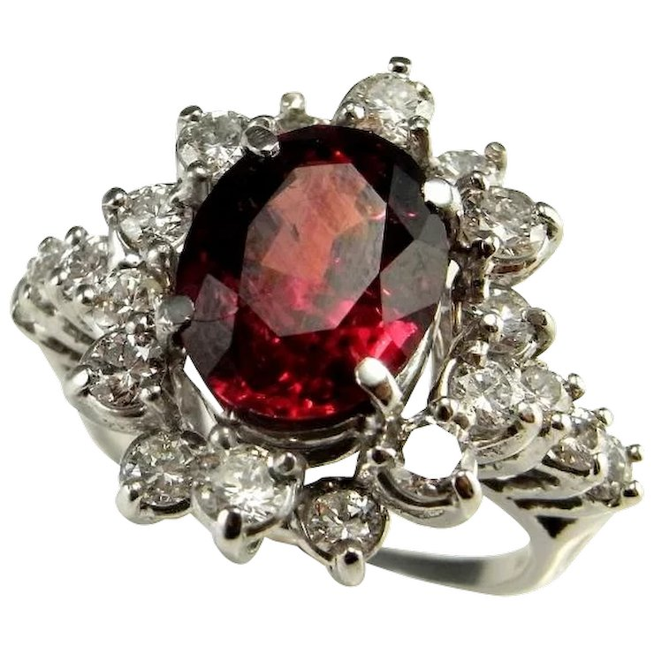 Rare Large Big Ruby Engagement Ring Natural Ruby Ring Ruby Wedding