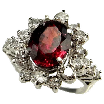 Rare Large Big Ruby Engagement Ring Natural Ruby Ring Ruby Wedding Ring Oval Ruby Ring One of a Kind Engagement Ring Color Engagement Ring Ruby Anniversary Unheated Unenhanced Natural Large Ruby Ring Heirloom Luxury Vintage