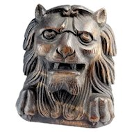 Renaissance Wood Sculpture Post Medieval Late Medieval Lion Sculpture Wood Carving Lion King Ornament Antiquities 16th Century 15th Century