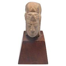 Antique Asian Stone Head 18th Century Asian Art Asian Antiques Sculpture Gods Sculpture Table Ornament Museum Display