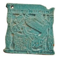 Ancient Egypt Egyptian Faience New Kingdom Pharaoh Isis Protection Amulet After Life Tomb 1300 BC 3300 Years Old Ancient Amulet Lucky Fine