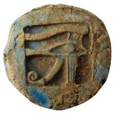 Evil Eye Amulet Wedjat Uzat Udjat Ancient Egyptian Amulet Faience Amulet Eye of Horus Amulet Protective Amulet Ancient Egypt Talisman Eye