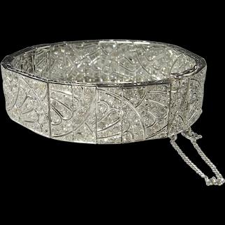 Diamond Bracelet Tennis Bracelet Art Deco Diamond Bracelet 1920s Diamond Bracelet 1930s Diamond Bracelet French Art Deco Antique Bracelet