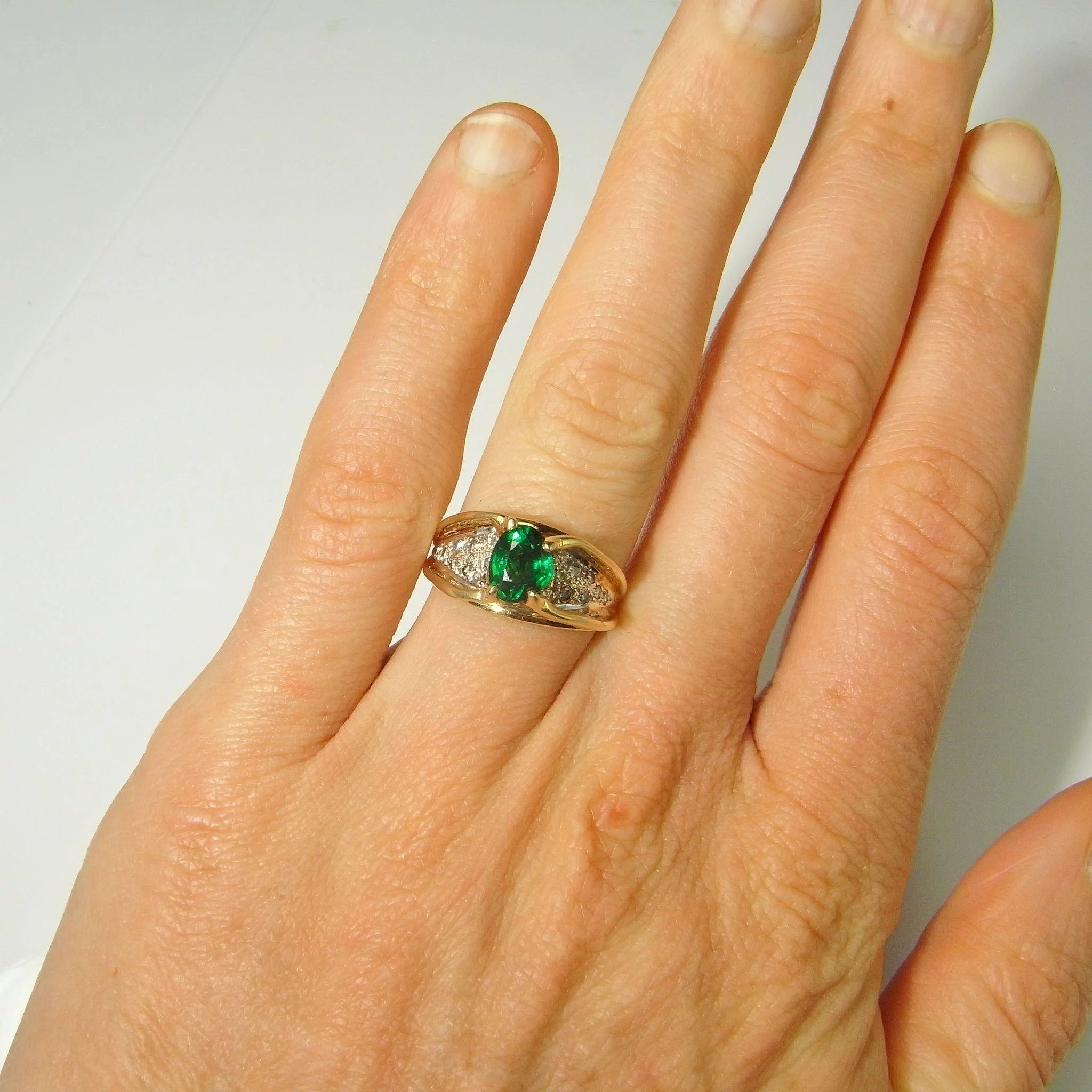 ring opal yellow gold product boulder aquamarine rings with tsavorite engagement p