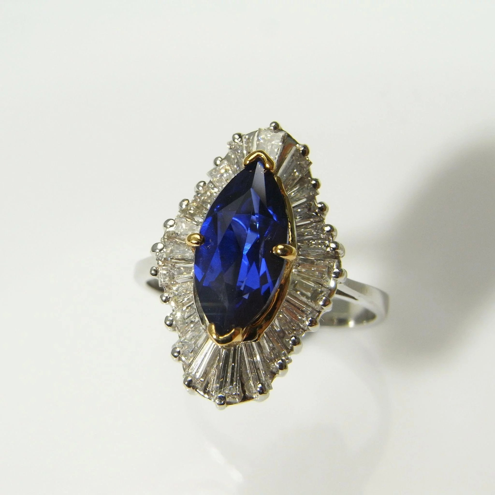 you this would gold beautiful pin yes marquise sapphire say gemstone pear to