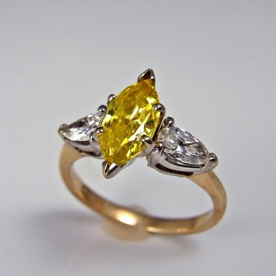sale radiant stone canary platinum at diamond karat gold ring engagement id l yellow jewelry and j natural rings consisting carat custom fancy for of made