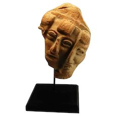 Pre Columbian Precolumbian Pottery Fragment Terracotta Sculpture Toltec Ex Museum Display Ancient Artifact Scupture Antiquities Ornament VF