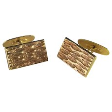 Mid Century Modernist Cuff Links Mens Yellow Gold Unique Cufflinks Mens gold jewelry 1950s 1960s 1970s