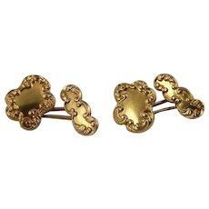 Yellow Gold Edwardian Antique Cufflinks Cuff Links Groom Wedding Luxury One of a Kind Mens Jewelry Accessories