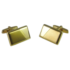 Mid Century Gold Minimalist Cuff Links Cufflinks Luxury Geometric Rectangular Rectangles 1970s 1960s Modernist