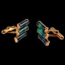 Jade Cufflinks Jade Cuff Links Nephrite Jade 14K Gold Cufflinks Gold Cuff Links Mens Cufflinks Mens Cuff Links Unique Cufflinks Retro