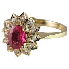 Padparadscha Sapphire Ring Sapphire Engagement Ring Ruby Engagement Ring Pendant Ring 1950s Engagement Ring Dainty Engagement Ring Pretty