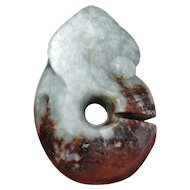 4000 BC Chinese Antiques Nephrite Jade Pig Dragon Hongshan Jade Amulet NEOLITHIC JADE Ancient Talisman Pendant Sculpture Chinese Antiquities