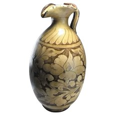 Song Dynasty Ewer Ancient Artifacts Antiquities Chinese Ceramics Stoneware Peony Decorations Peonies Floriate