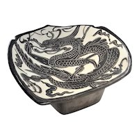 A RARE 'CIZHOU' Dragon PILLOW Circa Northern Song Dynasty Head Rest Ancient Chinese Artifacts Cizhou Yao Kiln Chinese Dragons Painted