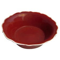 1736 - 1795 Qianlong Iron Red Glaze Bowl 18th Century Porcelain Chinese Art Ceramics Bowls Red Glazes Red Bowl Qianlong Period Art Porcelain