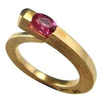Mahenge Spinel Ring Jewelry Snake Engagement Ring Spinel Engagement Ring Ouroboros Ring Ouroboros Jewelry Pink Wedding Ring Artisan Ring 14K