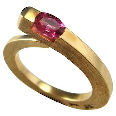 Mahenge Spinel Ring Jewelry Snake Engagement Ring Spinel Engagement Ring Ouroboros Ring Ouroboros Jewelry Pink Wedding Ring Artisan Ring 14K