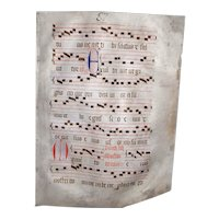 Late Medieval Early Renaissance Illuminated Manuscript Vellum Manuscript Music Gregorian Chants Religious Document Music Abbey 15th Century
