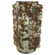 960 to 1179 AD Song Dynasty Porcelain Vase Song Ge Yao Guan Yao Porcelain Song Dynasty Cong Vase Archaistic Vase Antique Chinese Porcelain