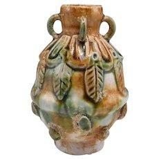 Tang Sancai Perfume Flask Tang Scent Flask 8th Century Flask Ancient Chinese Perfume Flask Tang Porcelain Ceramics Tang Dynasty Sancai Glaze