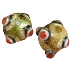 ONE 1 Single Warring States Glass Bead Dragonfly Eye Bead Small Delicate Ancient Bead Ancient Glass Bead Ancient Chinese Bead Eastern Zhou