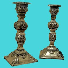 Antique Sterling Silver Candlesticks 1900 Edwardian Candlesticks Antique Hallmarked Silver Candlesticks 925