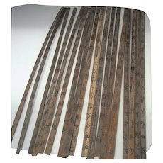ANCIENT Chu Bamboo Slip Book WARRING States Qin Chinese Artifacts Calligraphy Manuscripts Rare Text Document Scroll 4th to 3rd Century BC