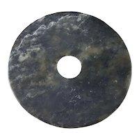 Chinese Antique Jade Bi Disc Jade Bi Pendant Neolithic Neolithic Jade Carving Qijia Jade Qijia Pendant Archaic Jade Pendant