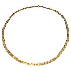 Multitone Tricolor Gold Chain Necklace Minimalist Rose Gold Chain White Gold Chain Yellow Gold Chain Italian 14K 14Kt Chain Necklace Choker Collier