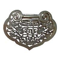Chinese Antique Jade Lock Pendant Lucky Bat Pendant Chinese Carved Jade Pendant 18th Century Qing Dynasty Lock Form Plaque Auspicious Jade