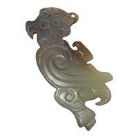 Chinese Antique Shang Jade Amulet Ancient Jade Amulet Pendant Archaic Jade Pendant Jade Carved Cameo Chinese Artifacts Art Asian Art BC