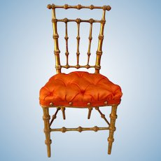 Rare golden bamboo chair