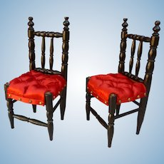 Pair of napoleon III chair