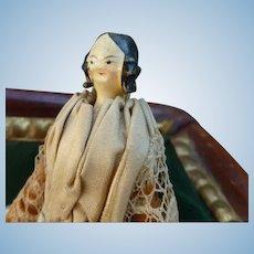 Small grodnertal doll in original condition
