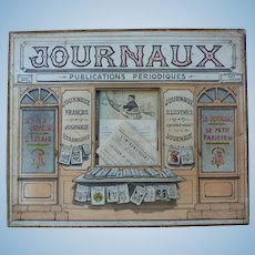 Suite of 36 miniature newspapers for Parisian doll
