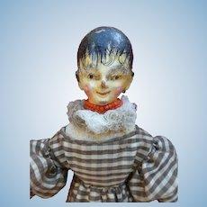 Rare doll grodnertal early nineteenth century