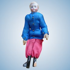 Rare parian head boy doll with wooden body