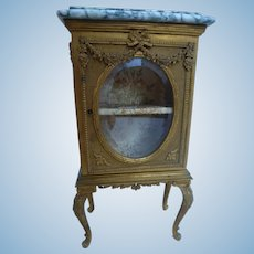 Rare bronze display cabinet for Parisian doll