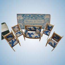 French miniature furniture set circa 1850