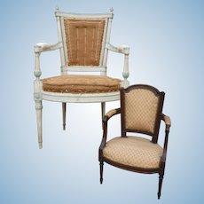 Rare Louis XVI style armchair circa 1900