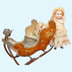 Sleighs for cute doll circa 1880