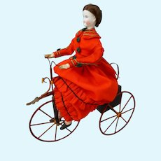 Circa 1870 Mechanical Cyclist Doll