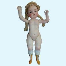 Rare all bisque miniature doll 22 cm (8 1/2 )
