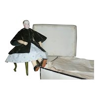 Rare two-piece outfit for HURET doll in its original signed box.